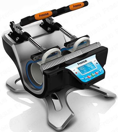 Freesub Mini Double Station Mug Heat Press Machine ST 210. Incrivel máquina  de estampar canecas ... fabe2ea279d